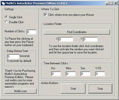 Mofiki's AutoClicker Premium v1.0.0.3