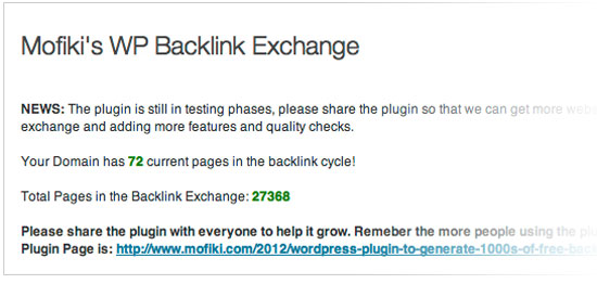 Mofiki's-Backlink-Exchange-Admin-Page
